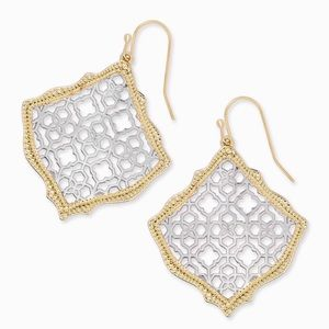 KENDRA SCOTT • Two-Tone Kirsten Filigree Earrings